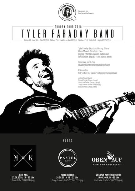 Tyler Faraday Band Europatour 2019 special guest in Leipzig Lukas Dreyer Cello
