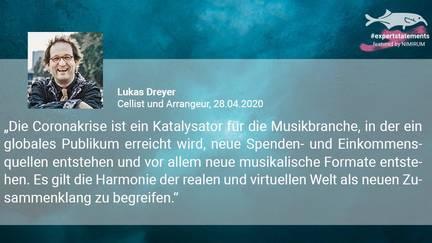 Ein Teaser mit Textausschnitt Lukas Dreeyr Expert Statement für Nimirum zum Internet als Bühnenformat in Europa
